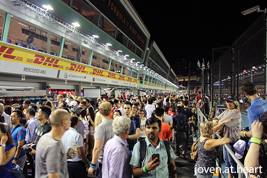 Thursday Pit Lane Experience @ 2016 Formula 1 Singapore Airlines Singapore Grand Prix