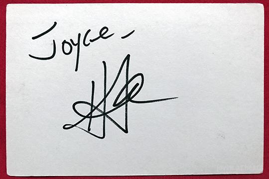 Harry Shum Jr autograph