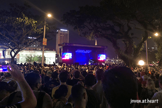 2018 Formula 1 Singapore Airlines Singapore Grand Prix (Saturday) -- The Killers on stage