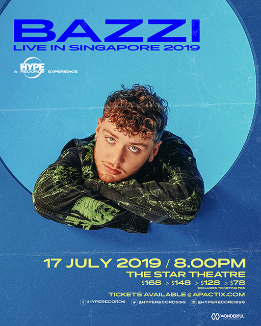 Bazzi Live in Singapore 2019 Poster
