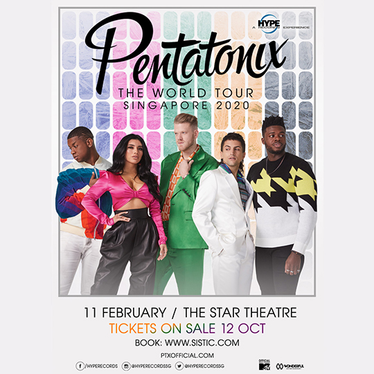 Pentatonix-The-World-Tour-Singapore-2020 Poster