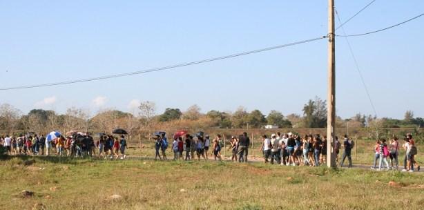 Los jovenes matanceros rumbo a Ibarra