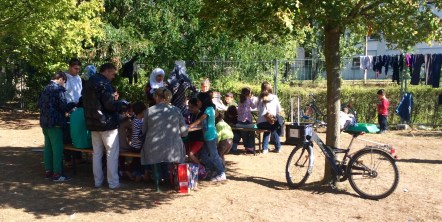 Refugiados en Berlín