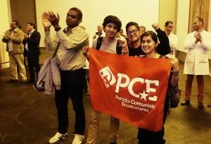 Con todas sus contradicciones, la Revolución Ciudadana ha apostado a la juventud. Estos son miembros del nuevo Partido Comunista