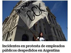 Represión en Argentina