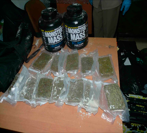 Droga incautada por la aduana cubana