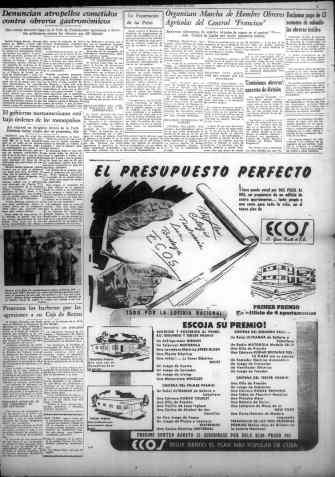 Publicidad de la lotería en el órgano de los comunistas cubanos.