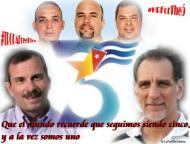"""Autor: Rosa C. Báez, Cuba (@LaPolillaCubana): @rene4the5 """"Que el mundo recuerde que seguimos siendo cinco, y a la vez somos uno"""""""