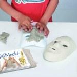 JOVI paperimassa - naamion työstö