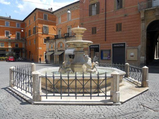 Fontana dei delfini. fountain in Vittorio Emanuele II square