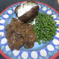 Beef Tenderloin Tips in Mushroom Gravy