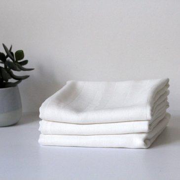 Cotton, muslin | Folding insert, white | Set of 3