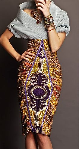 Ankara pencil skirt