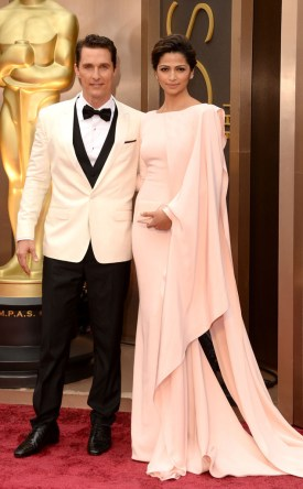 Matthew McConaughey in Dolce and Gabbana & Camilla Alves in Gabriela Cadena