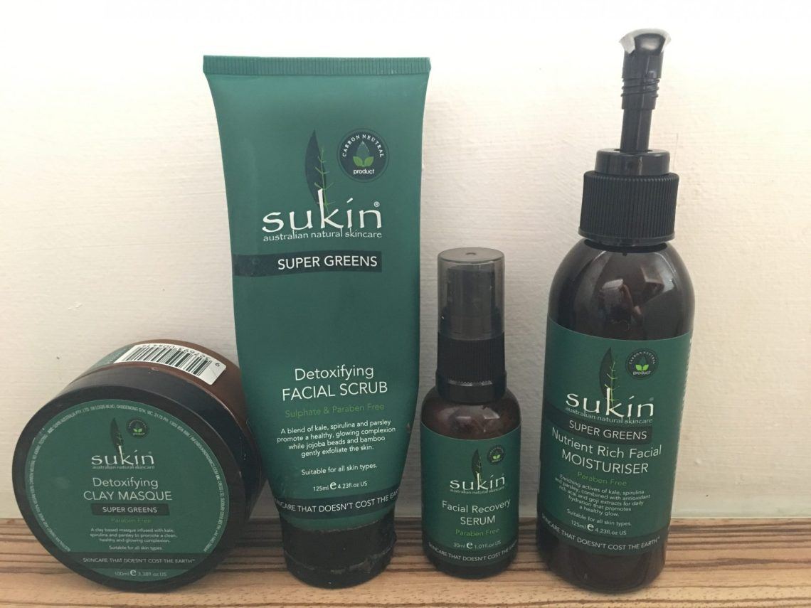 Sukin Super Greens range