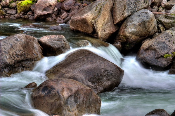river and boulders