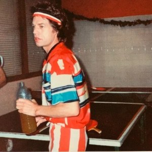 Mick Jagger Table Tennis by Jo Wood