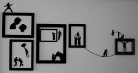 DIY silhouette wall art  Thinkings