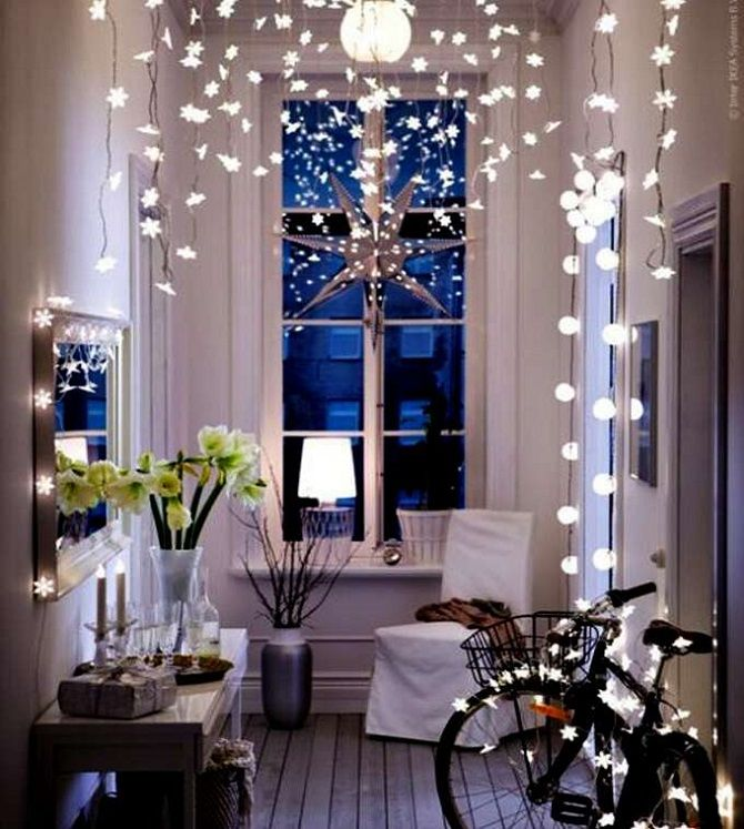 Yeni Yıl için odayı nasıl süsleyebilirim 2021: Yeni Yıl Decor 3'in en iyi fikirleri
