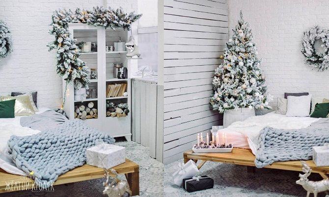 How to decorate the room for the new year 2021: the best ideas of the New Year decor 14