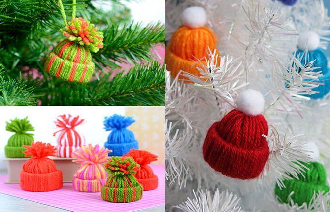 Рождестволық ойыншықтар өзіңіз өзіңіз жасайсыз: Жаңа жылға арналған 10 қарапайым нұсқа 11