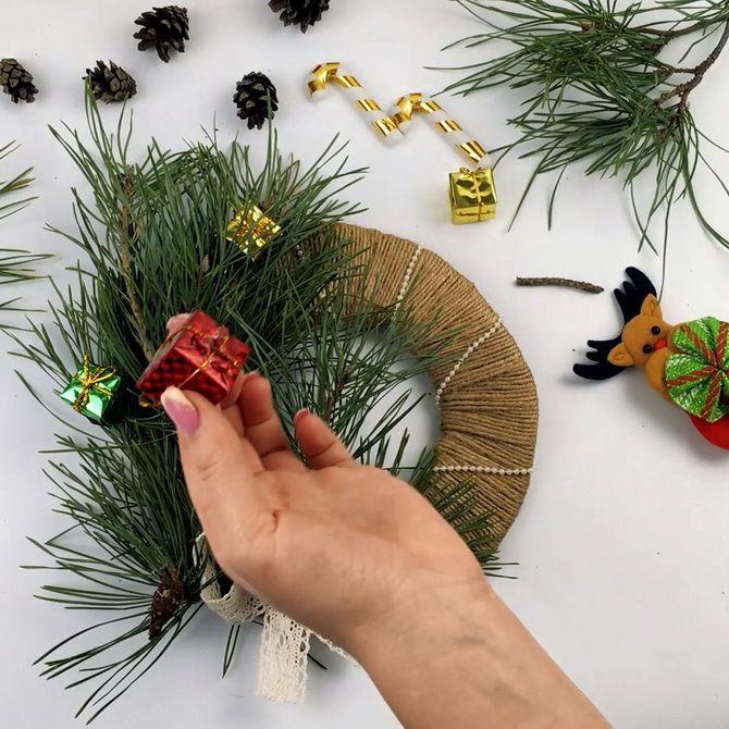 как сделать рождественский венок своими руками