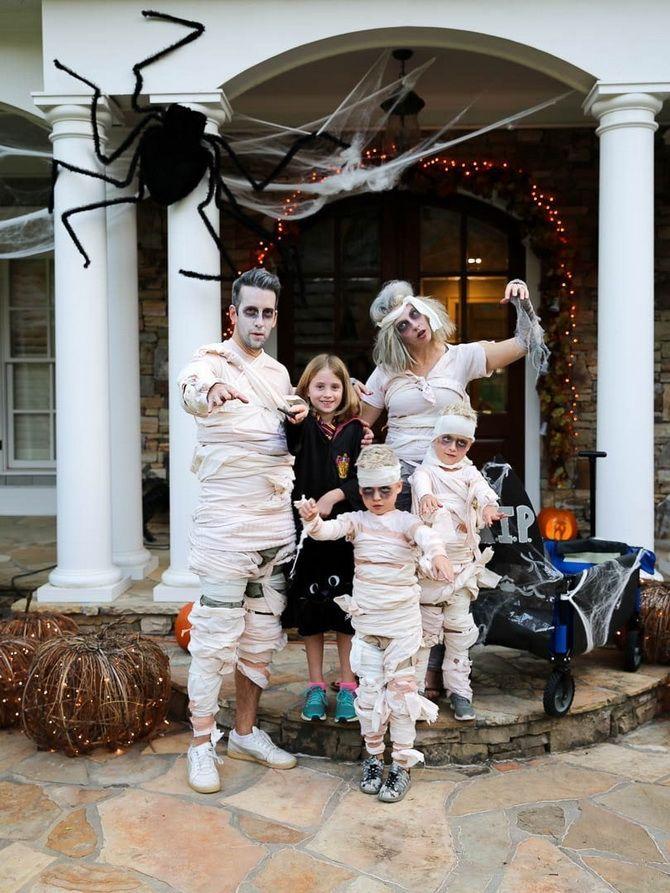 Trang phục Halloween: Tùy chọn đơn giản và ngân sách cho cả gia đình 11