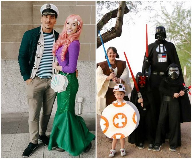 Halloween kostume med dine egne hænder: enkle og budgetmæssige muligheder for hele familien 12