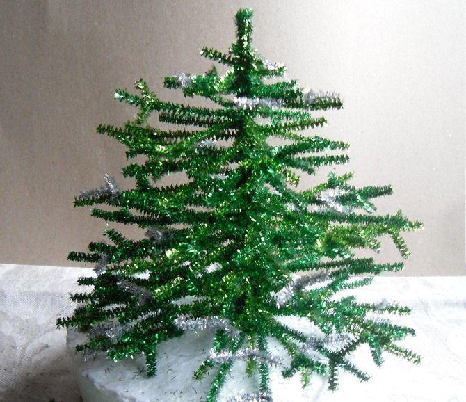 Sådan laver du et stort juletræ med dine egne hænder: ideer og workshops 8