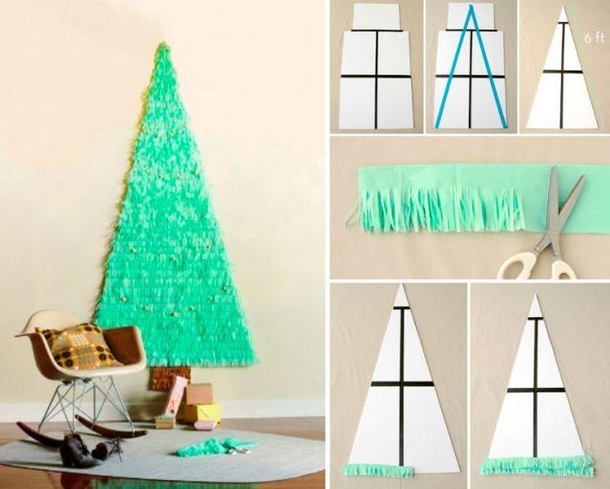 วิธีทำต้นคริสต์มาสขนาดใหญ่ด้วยมือของคุณเอง: ไอเดียและคลาสมาสเตอร์ 1