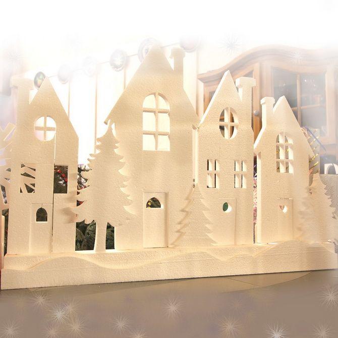 Novoroční dům - řemesla s vlastními rukama 28