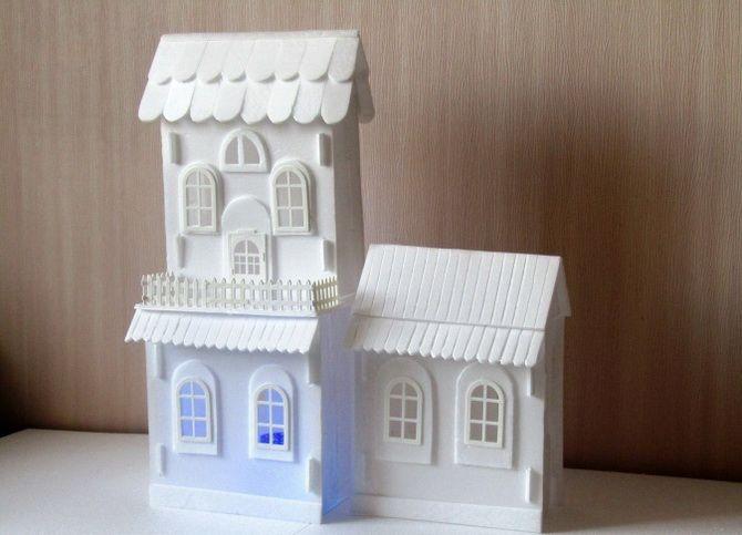 Novoroční dům - řemesla s vlastními rukama 30