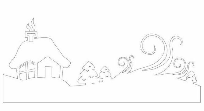 Новогодний домик – поделка своими руками 5