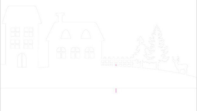 Новогодний домик – поделка своими руками 6