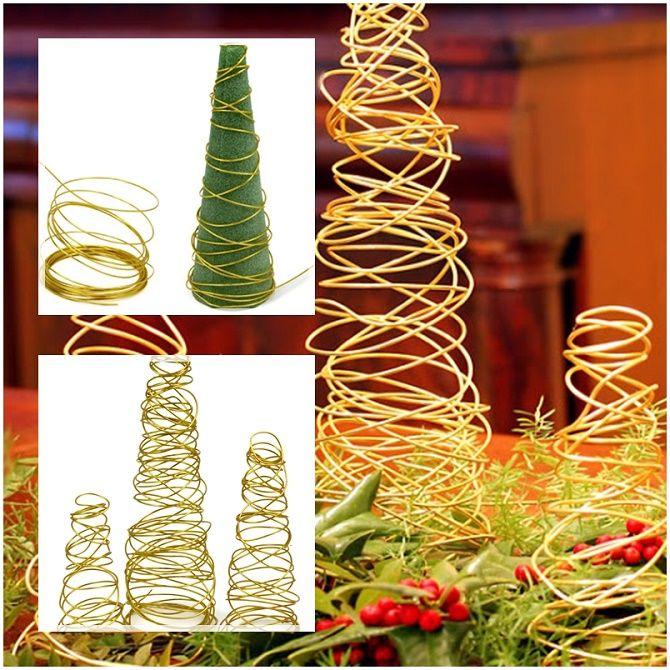 Cum să faci un copac de Crăciun de sârmă neobișnuit pentru Anul Nou 2021: idei cool cu fotografia 13