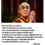 Dalai Lama Morning Meditation