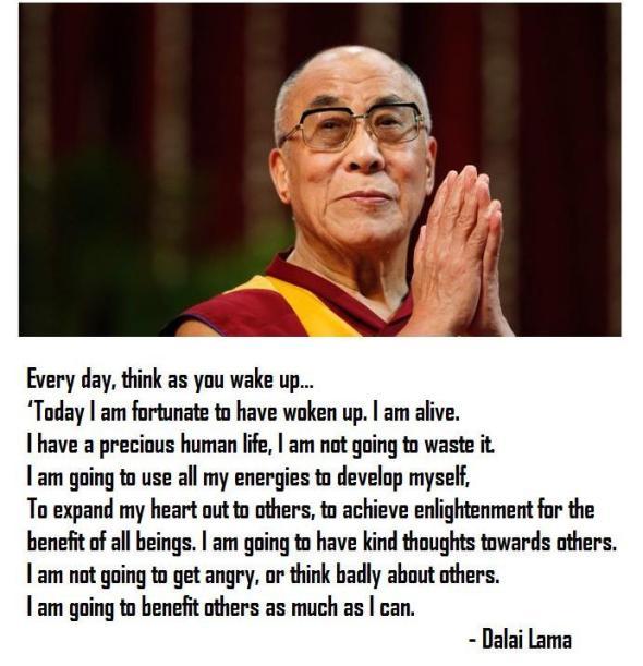 Good Morning Quotes Dalai Lama : Dalai lama morning meditation
