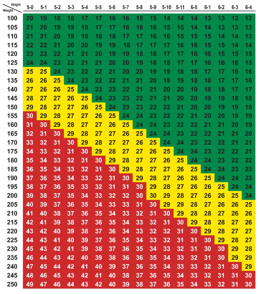 Check your body mass index bmi with this easy chart above is a bmi chart bmi stands for body mass index it is a height to weight ratio and is the most accepted screening tool used to assess weight geenschuldenfo Gallery