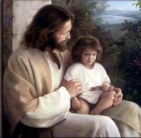 Jesus with a little one (Photobucket)