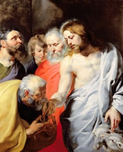 Christ Giving the Keys to St. Peter by Rubens (Restored Traditions)