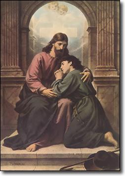 Jesus, The Consoling Christ by Bernard Plockhorst (WikimediaCommons)