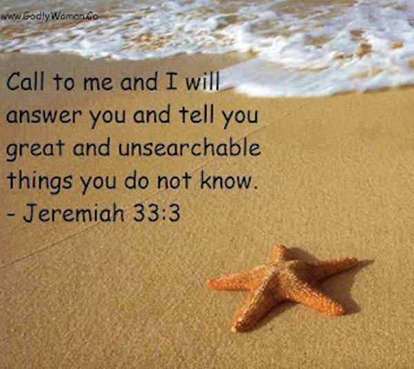 Jeremiah 33:3 (Godly Woman Daily)