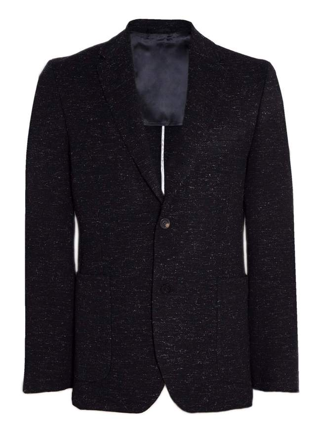 OUR LEGACY Midnight Flecked Wool 3 Button Rolling Blazer