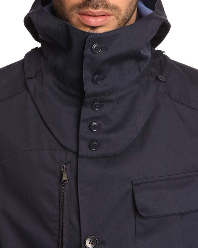 Parka WOOLRICH Hiking Capuche Amovible Marine
