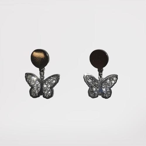 Pendientes con mariposa (Acero)