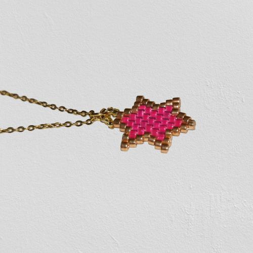 Colgante étnico pink (Acero)