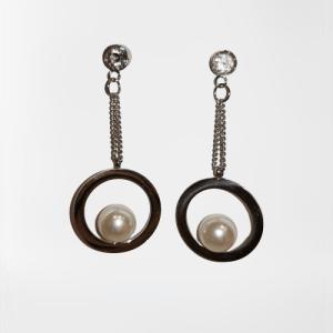 Pendientes con perla (Acero)