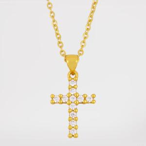 Colgante cruz (baño de oro)