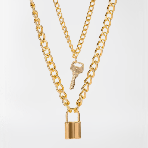 collar doble dorado