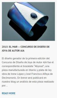 Brazalete Abyssal - Ganador Concurso de Diseño de Joya de Autor AJA 2015